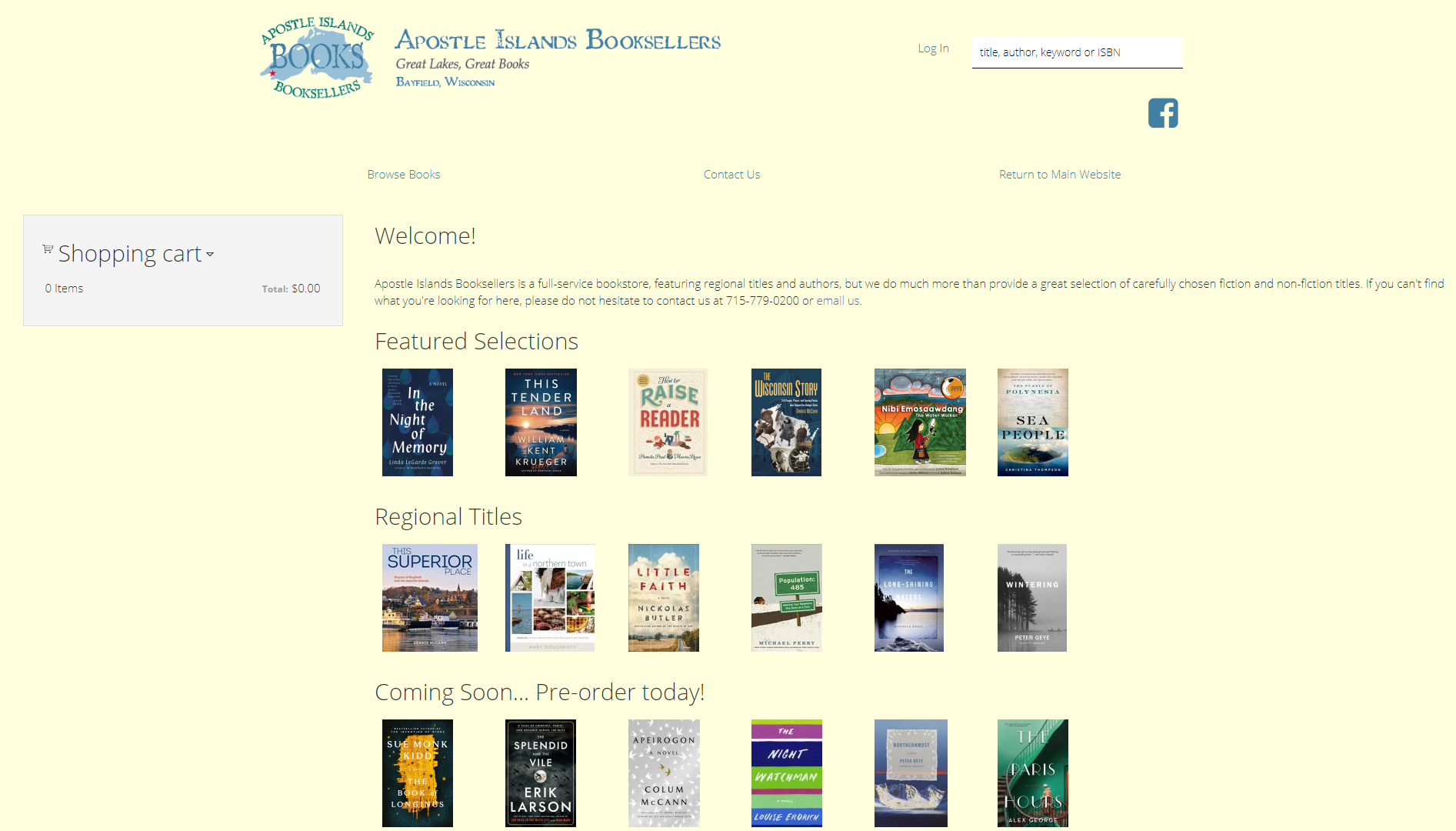 Apostle Islands Booksellers IndieLite Home Page