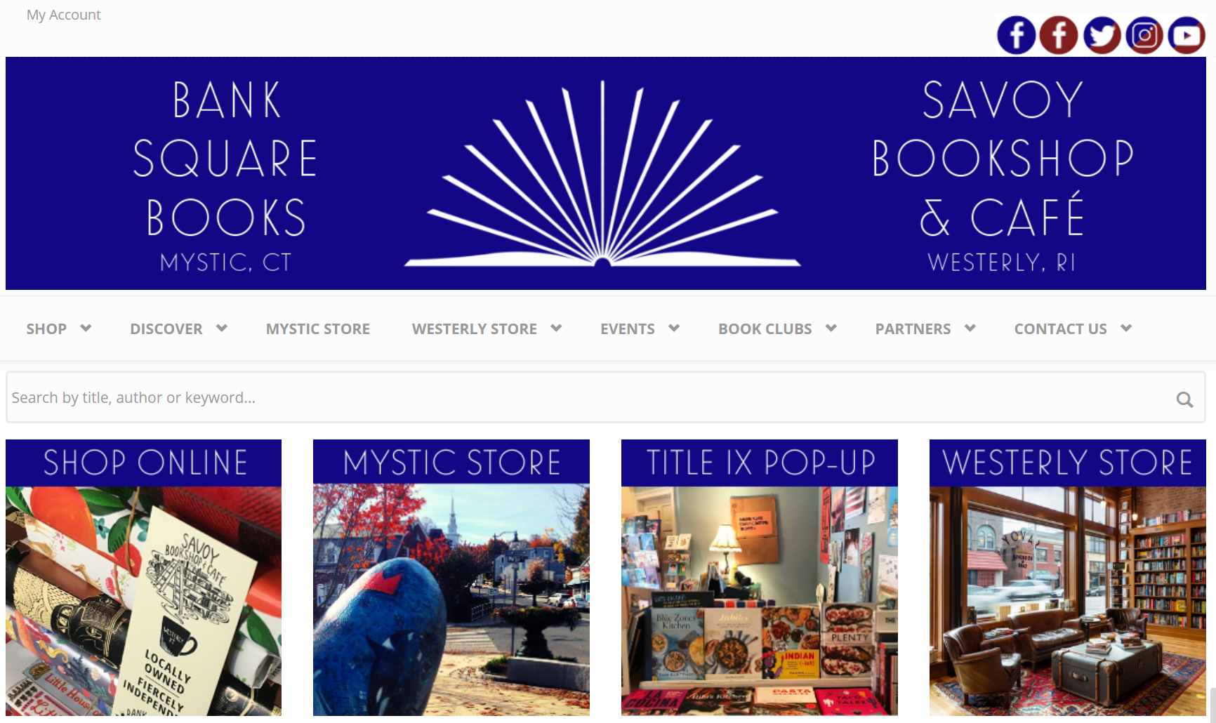 Bank Square Books IndieCommerce Home Page