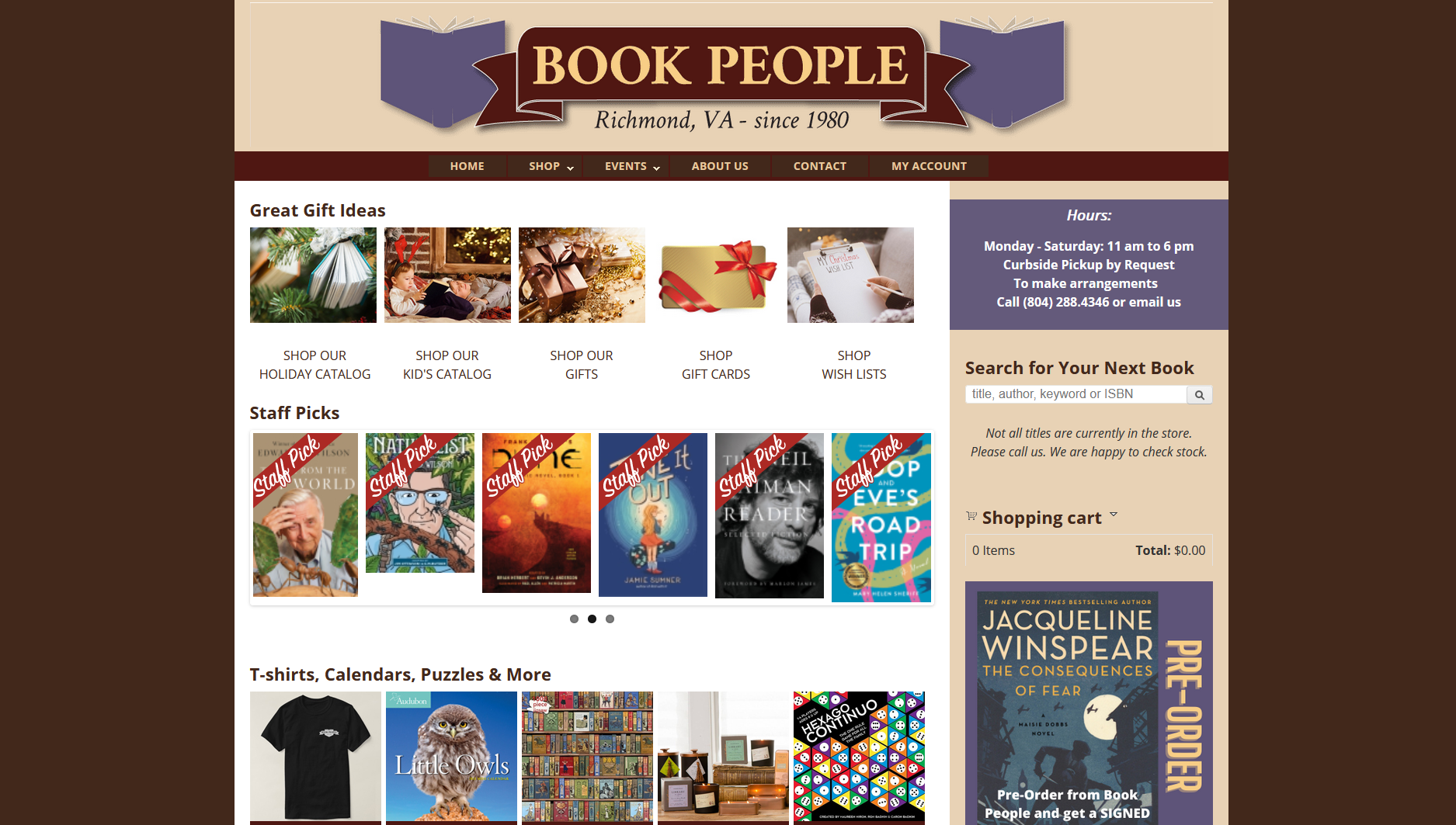 Book People Richmond IndieCommerce Home Page