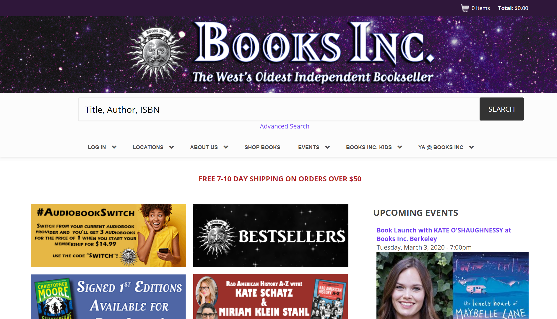 Books Inc. IndieCommerce Home Page