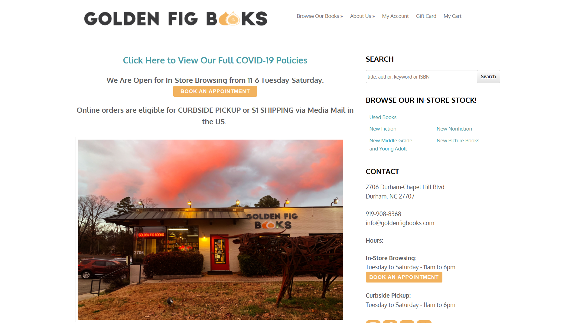 Golden Fig Books IndieCommerce Home Page