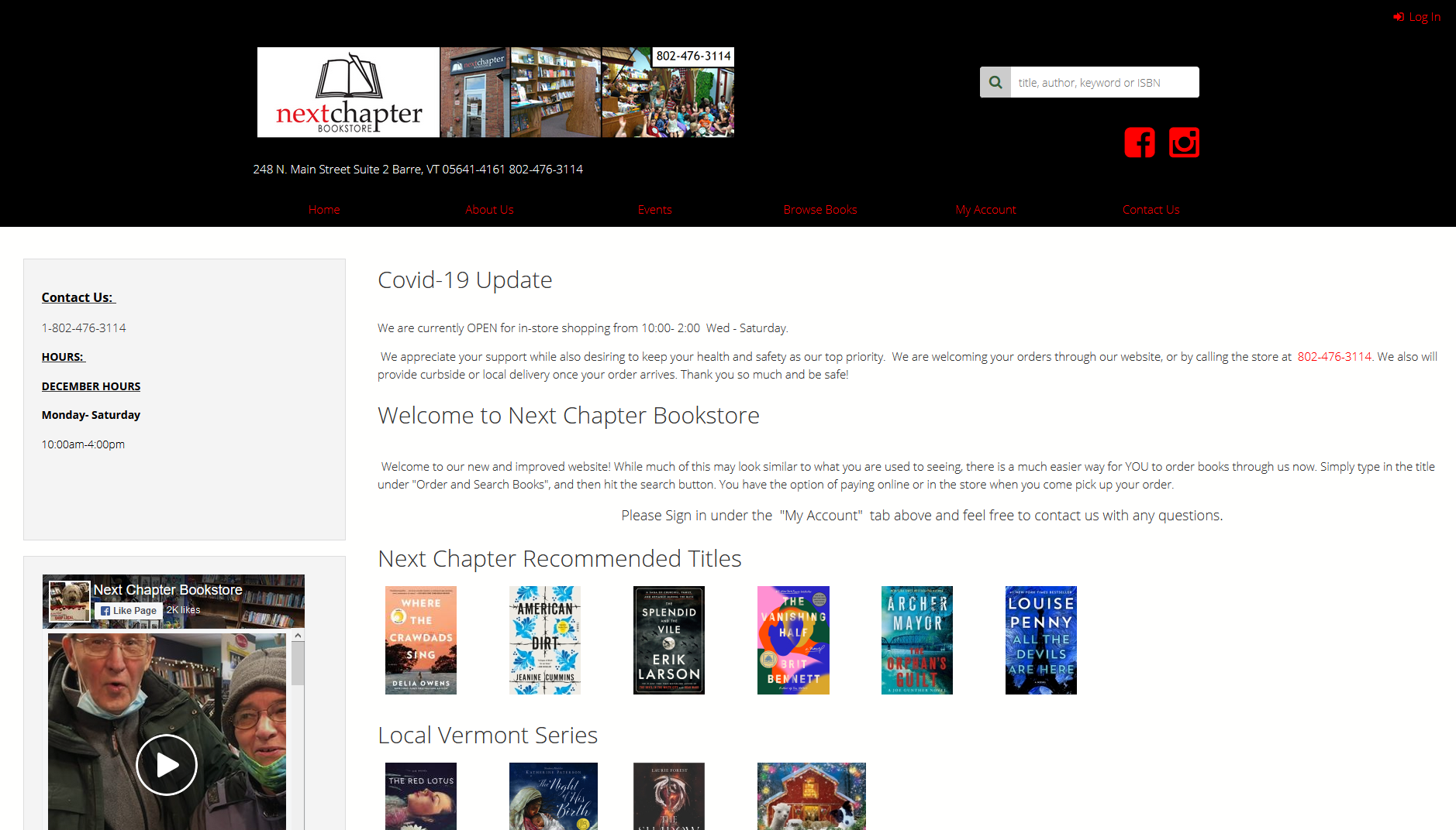 Next Chapter Bookstore IndieLite Home Page