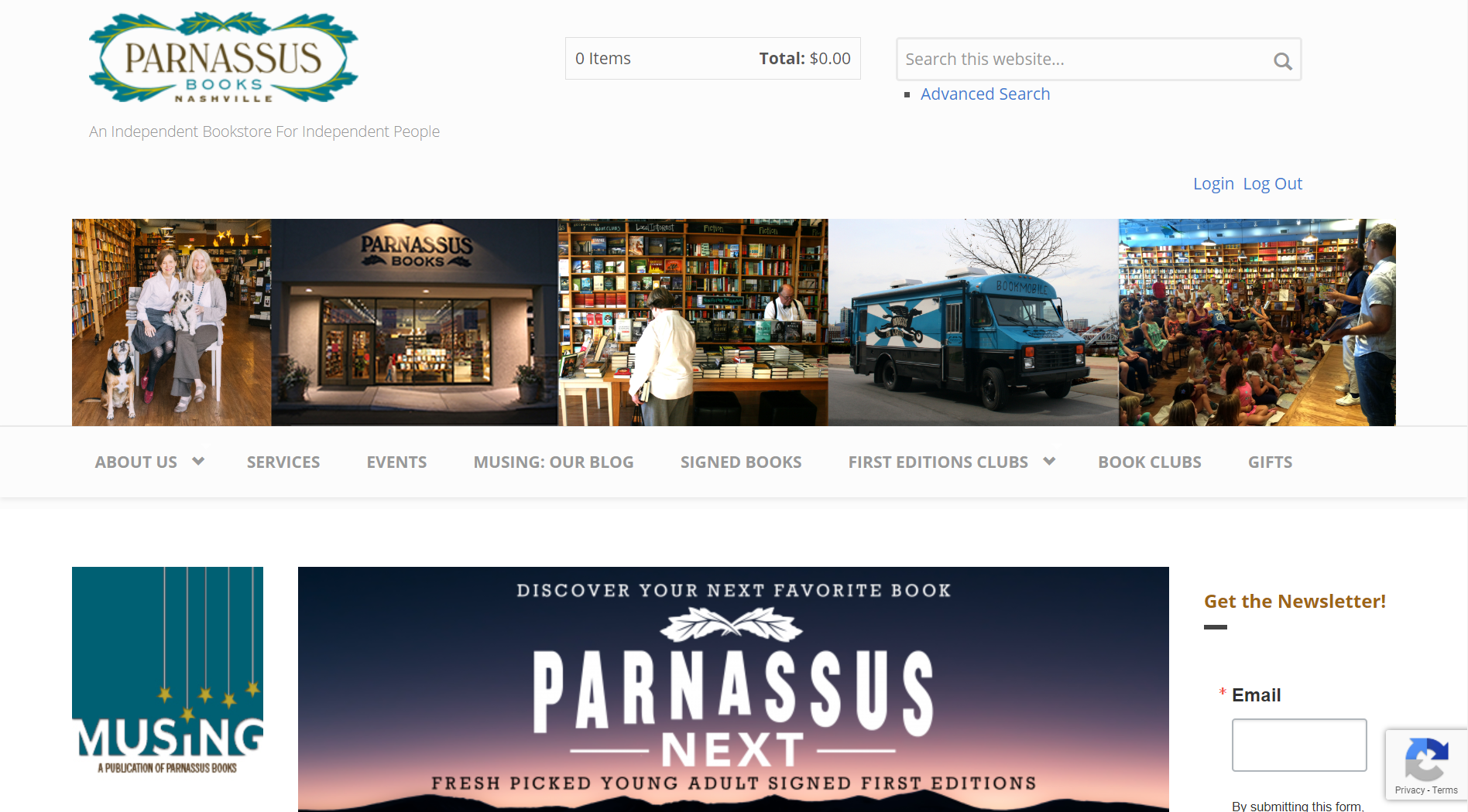 Parnassus Books IndieCommerce Home Page
