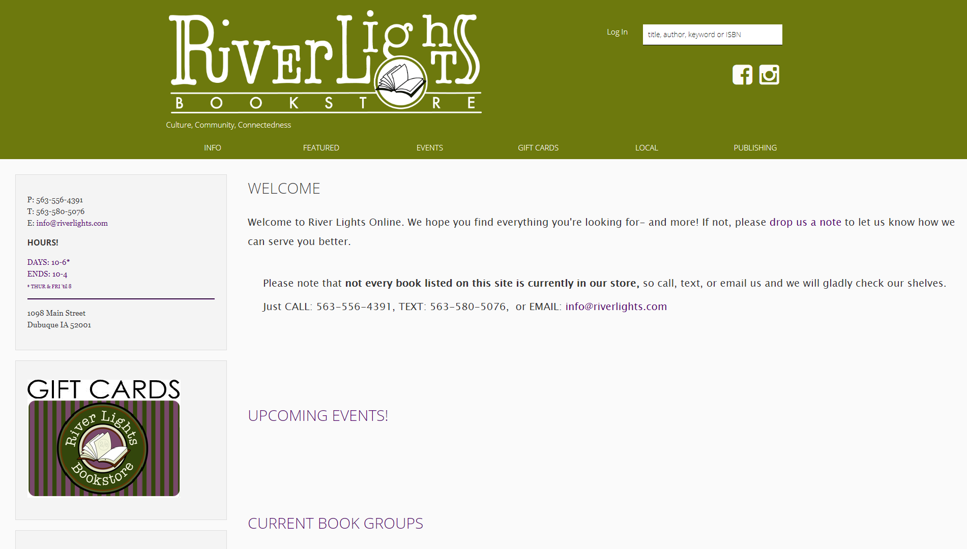 River Lights Bookstore IndieLite Home Page