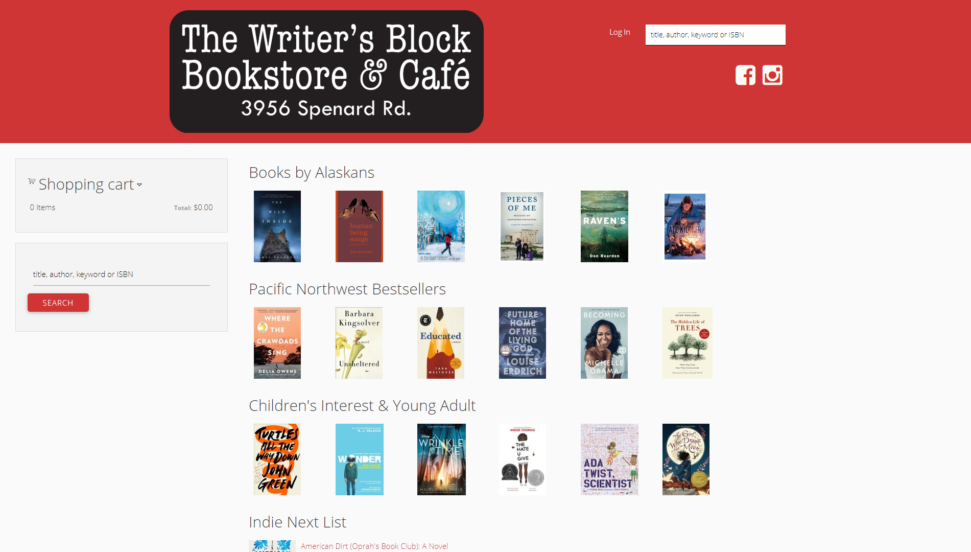 Writer's Block Bookstore IndieLite Home Page